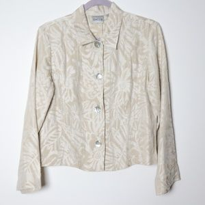 Chico's | Silk and Linen Buttoning Jacket